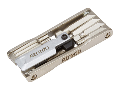 Atredo - Multitool - 9 funktioner - Med kædeadskiller - Blank