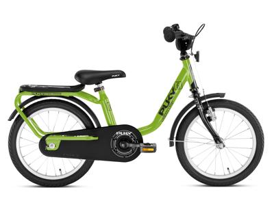 """Puky Z 6 - Børnecykel 16"""" i stål - Grøn/sort"""