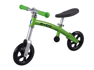 Micro G-Bike Light - Løbecykel - Green - Aluminium