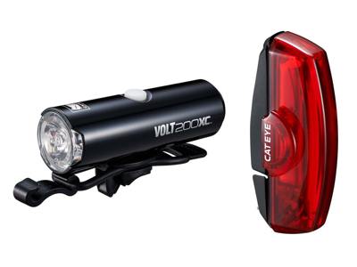 Cateye Volt200XC + Rapid X - Lygtesæt - USB opladelig