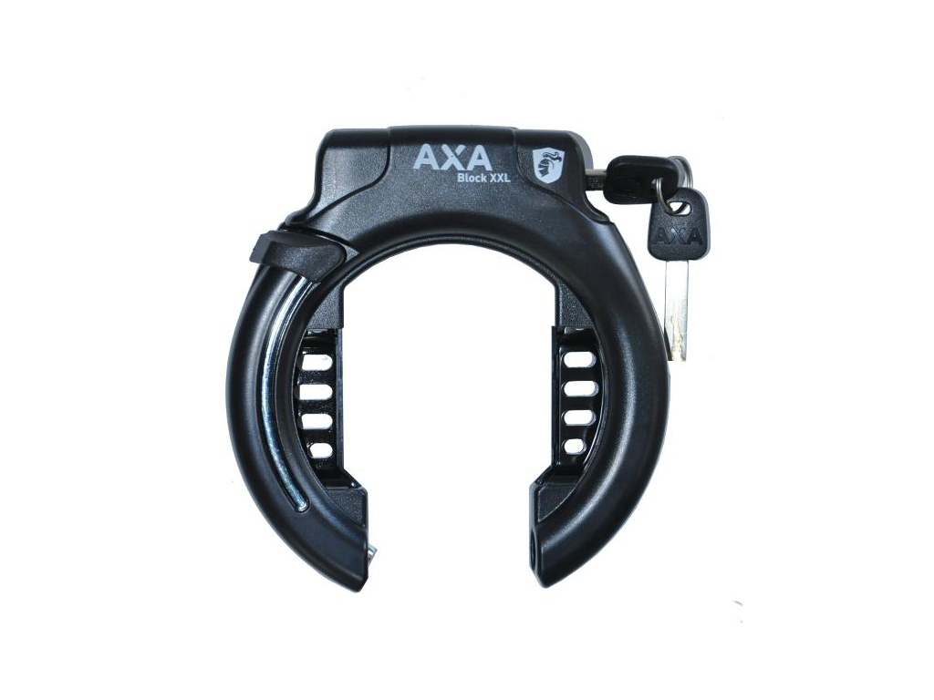 Image of   AXA - Block XXL - Ringlås u/bolte - Sort - Ekstra bred