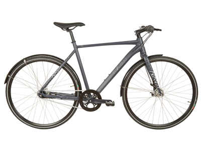 Micado Sport - City Bike - Herre - 7 gear - Rullebremser - Matgrå/blå - 60cm