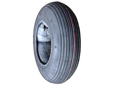 Trillebør dæk og slange 8 x 4.80/4,00 slange med autoventil