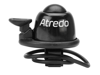 Atredo - Mini Bell - Ringeklokke - Med gummibånd - Sort