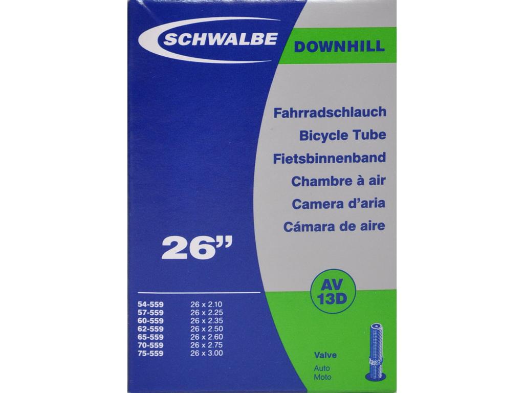 Schwalbe slange 26 x 2,10-3,00 med Auto ventil AV13D thumbnail