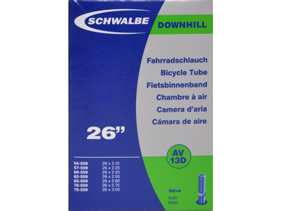 Schwalbe slange 26 x 2,10-3,00 med Auto ventil AV13D