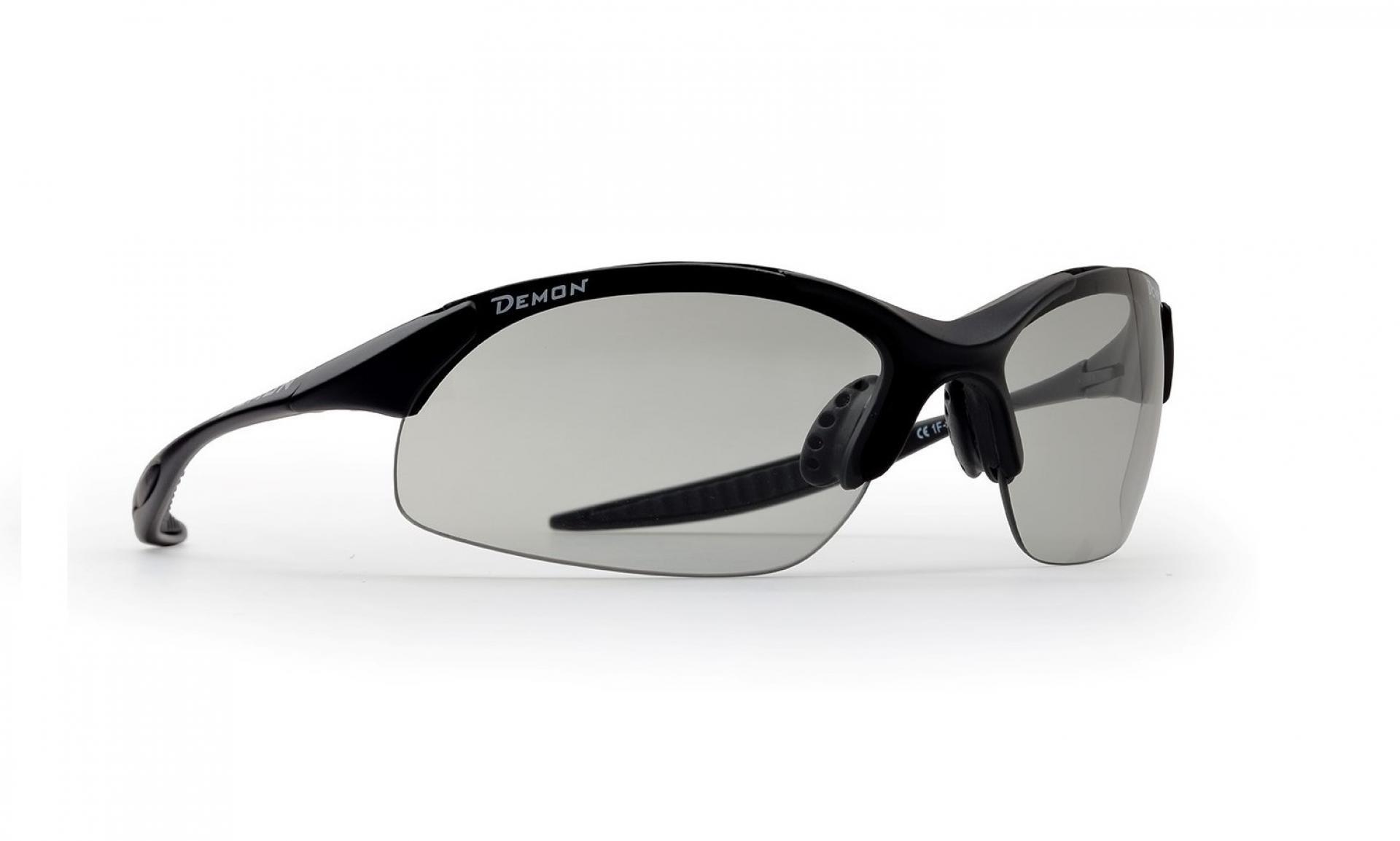 Demon 832 DCHROM - Løbe- og cykelbrille med fotokromisk linse - Matsort   Glasses