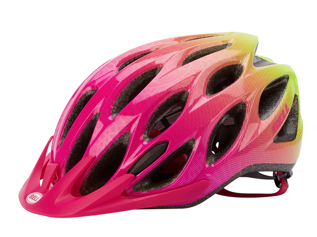 Image of   Bell Charger - Cykelhjelm - Str. 50-57 cm - Pink/Neongul