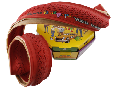 Foldedæk 700 x 24c Duro Fixie rød