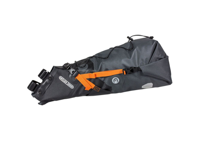 Ortlieb Seat-Pack - Bike Packing Sadeltaske - Str. L - 16,5 Liter - Grå/sort