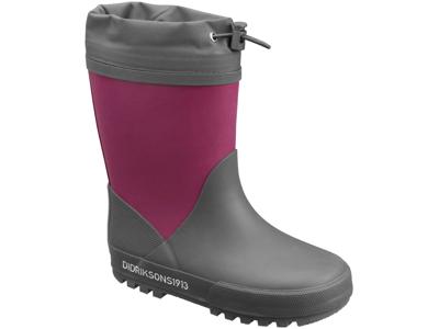 Didriksons Slush Kids W Boots - Gummistøvler med foer - Mørk Lilla