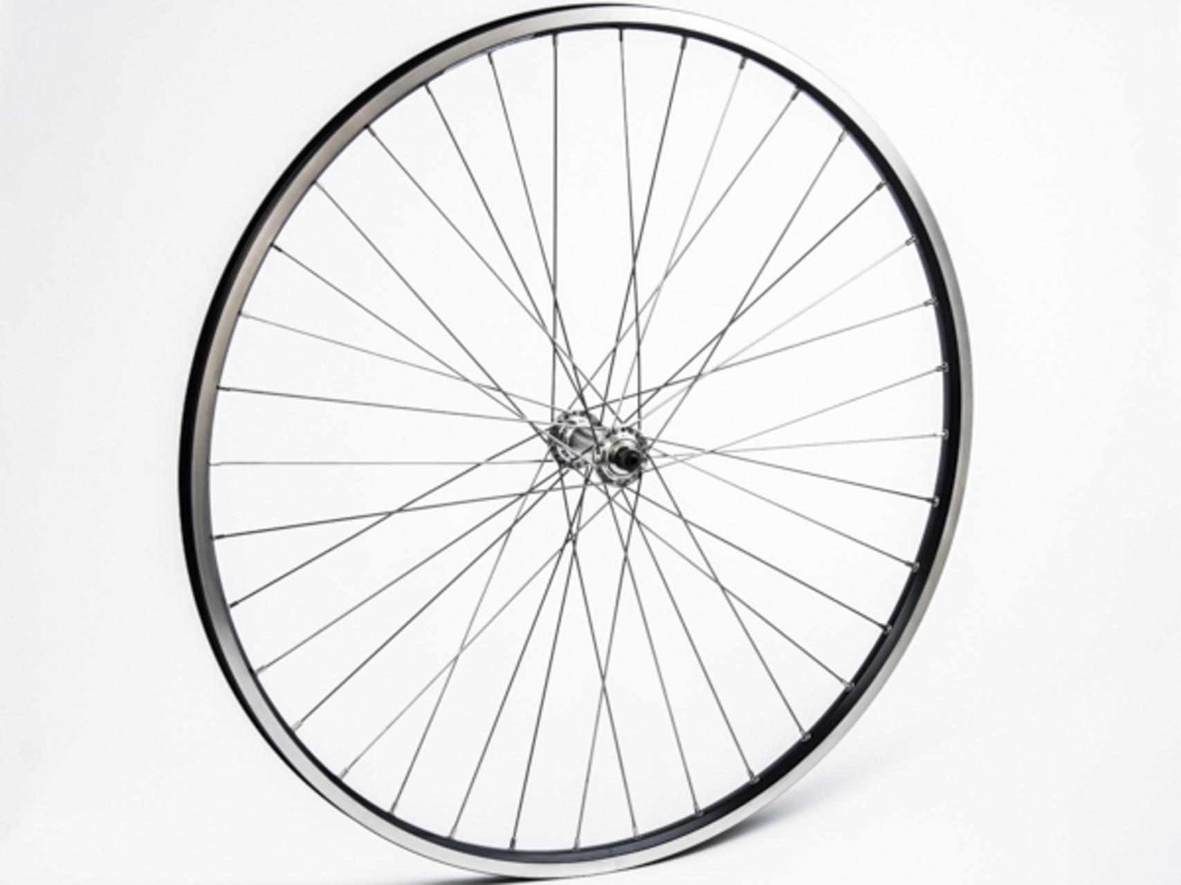 Connect citybike forhjul - 700c - Ryde ZAC19 fælg - QR nav - Sort/sølv   City