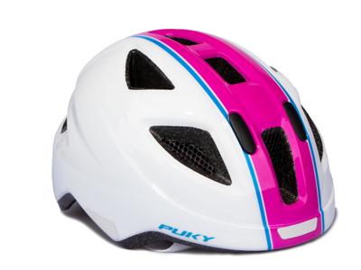 Puky PH 8 - Cykelhjelm - Str. 51-56 cm - Hvid/pink