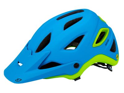 Cykelhjelm Giro Montaro MIPS - Mat blåt/lime