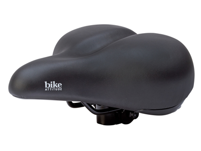 Bike Attitude - Cykelsadel - komfort med elastomer - Unisex D1 base - Sort