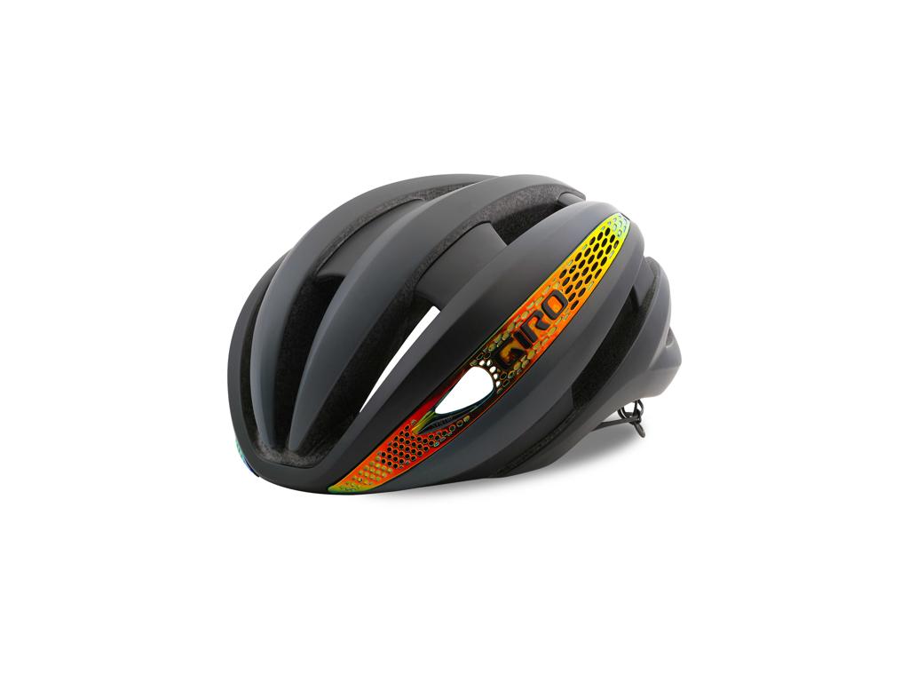 Giro Synthe Mips - Cykelhjelm - Grå/Firechrome