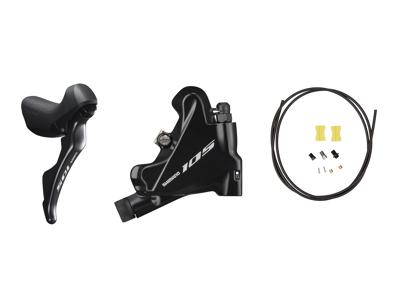 Shimano 105 STI og hydraulisk bremsegreb højre sort - ST-R7020R og BR-R7070R