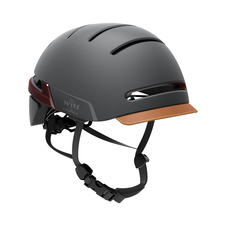 Witt by Livall - Interactive Cykelhjelm med lys, blinklys og højtaler - Graphite black | Helmets