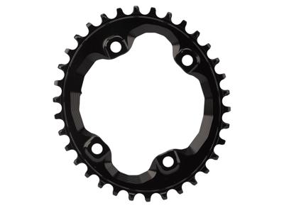 absoluteBLACK Oval klinge - Shimano - BCD: ø96 - 4 huller - 36 tænder - Sort