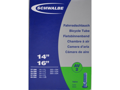 Schwalbe slange 14 x 1. 3/8 med Auto ventil AV2