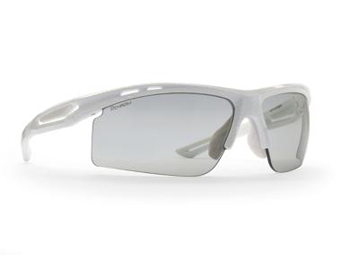 Demon Cabana DCHROM - Löpar- och cykelglasögon med fotokromatiska linser - Karbon-look/Vit