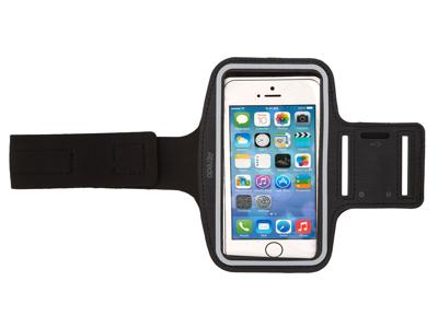 """Atredo - Løbearmbånd til smartphone - Til standardmodeller - 4,7"""" - Sort"""