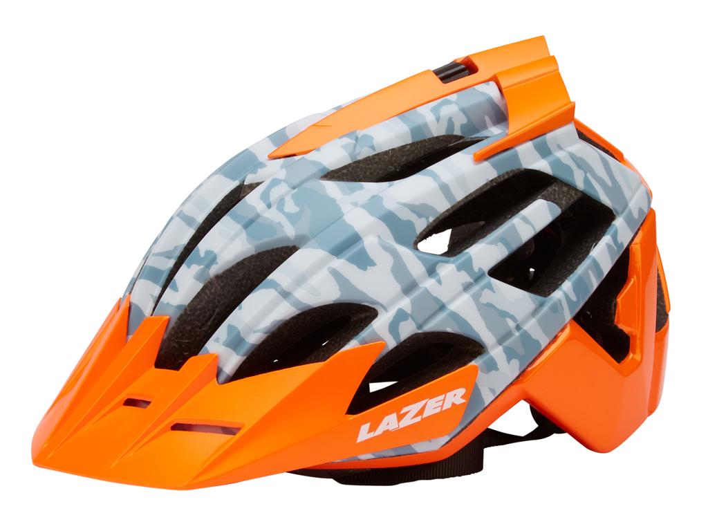 Lazer - Cykelhjelm - Oasiz - Matgrå camouflage orange - 55-59 cm
