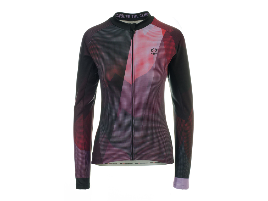 Image of   AGU SHIRT LS EVO CONQUER WN RED/PURPLE XS