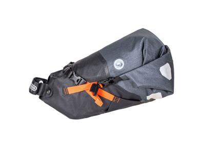 Ortlieb Seat-Pack - Bike Packing Sadeltaske - Str. M - 11 Liter - Grå/sort