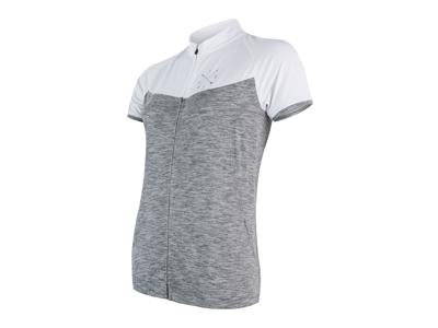 Sensor Motion FZ Jersey  - Dame Cykeltrøje med kort ærme - Grå/Hvid - Str. L