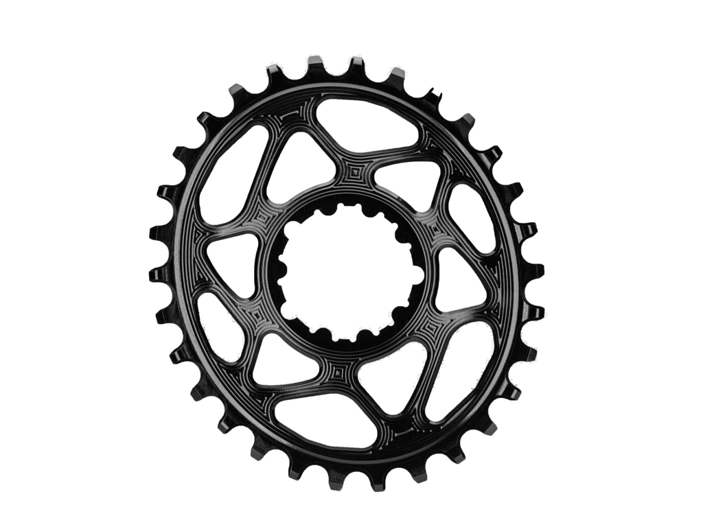 Image of absoluteBLACK Oval klinge - Sram - Direct mount - Boost - Offset 3 mm - 30 tænder - Sort