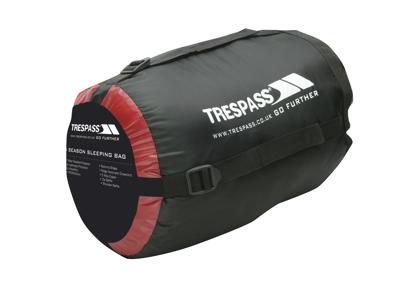 Trespass Doze sovsäck - 3 säsonger - 230 x 85 x 55 cm - Röd