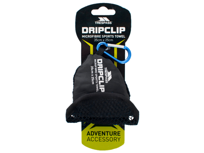 Trespass Dripclip - Sportshåndklæde med nøgleclip - Blå
