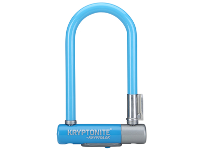 Kryptonite bøjlelås - Kryptolok 2 Mini 7 - U-Lock 8,2x17,8cm - Blå