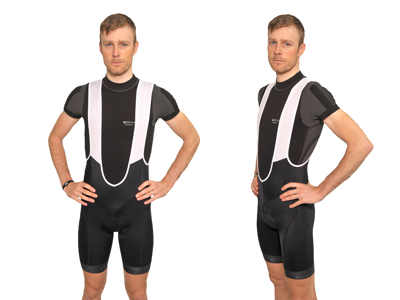 XTreme X-Mile - Bib shorts med pude - Sort