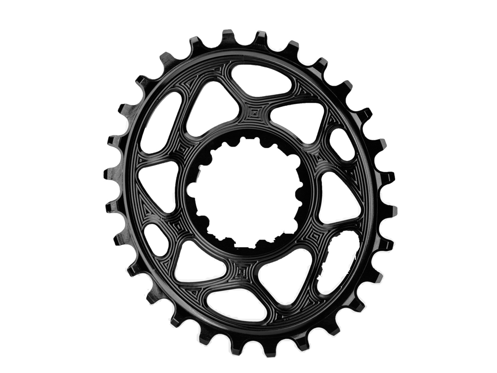 Image of absoluteBLACK Oval klinge - Sram - Direct mount - Offset 6 mm - 28 tænder - Sort