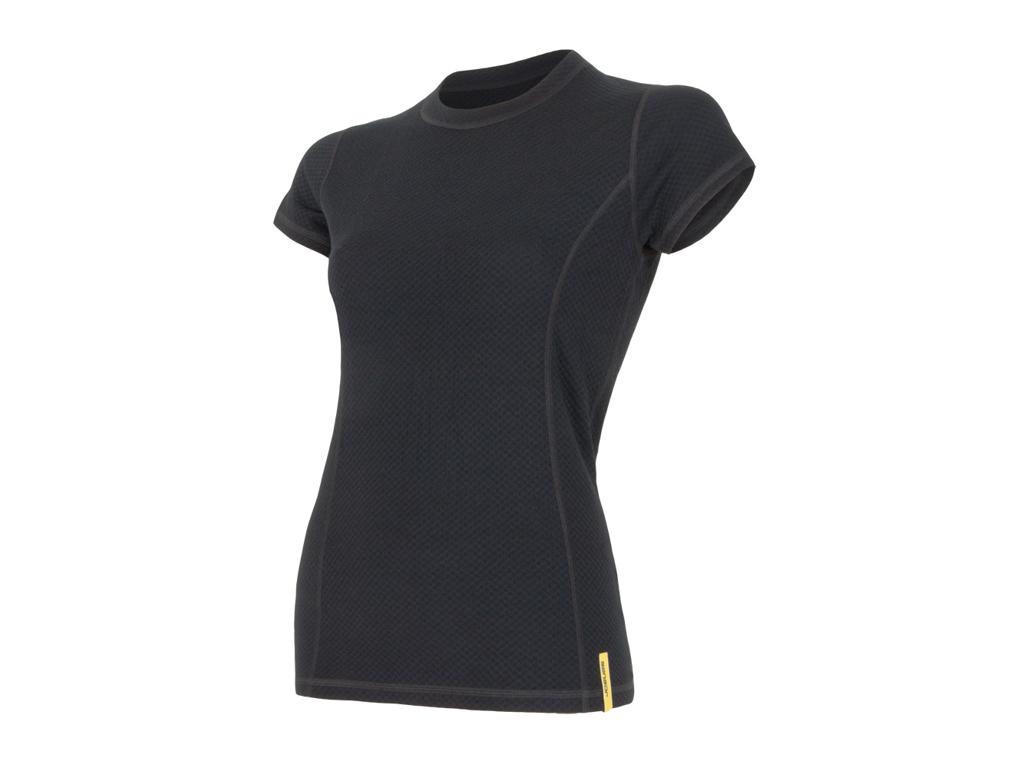 Sensor Merino DF Tee SS - Uld T-shirt - Dame - Sort thumbnail