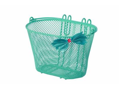 """Basil - Jasmin - Cykelkurv til børnecykel - 12""""-20"""" - Mintgrøn med sløjfe"""