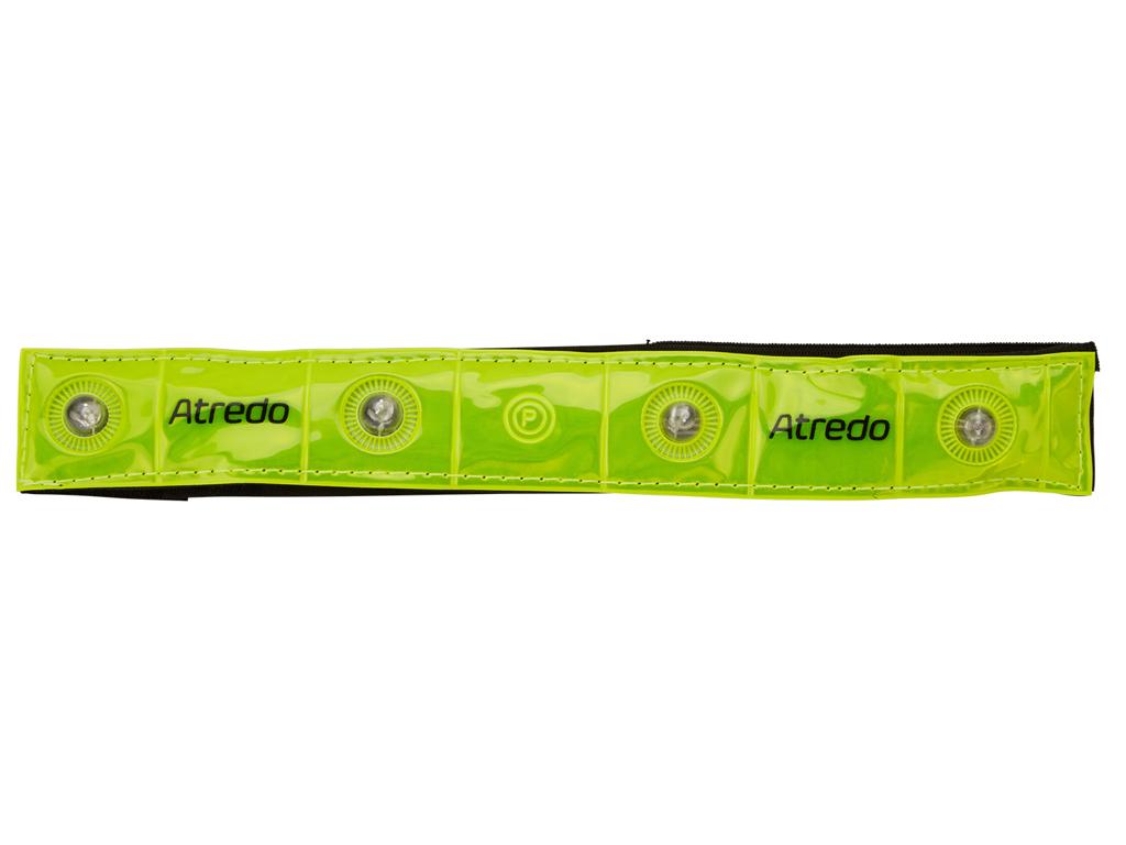 Atredo - Refleksbånd med 4 LED lys - Med velcro - Gul thumbnail