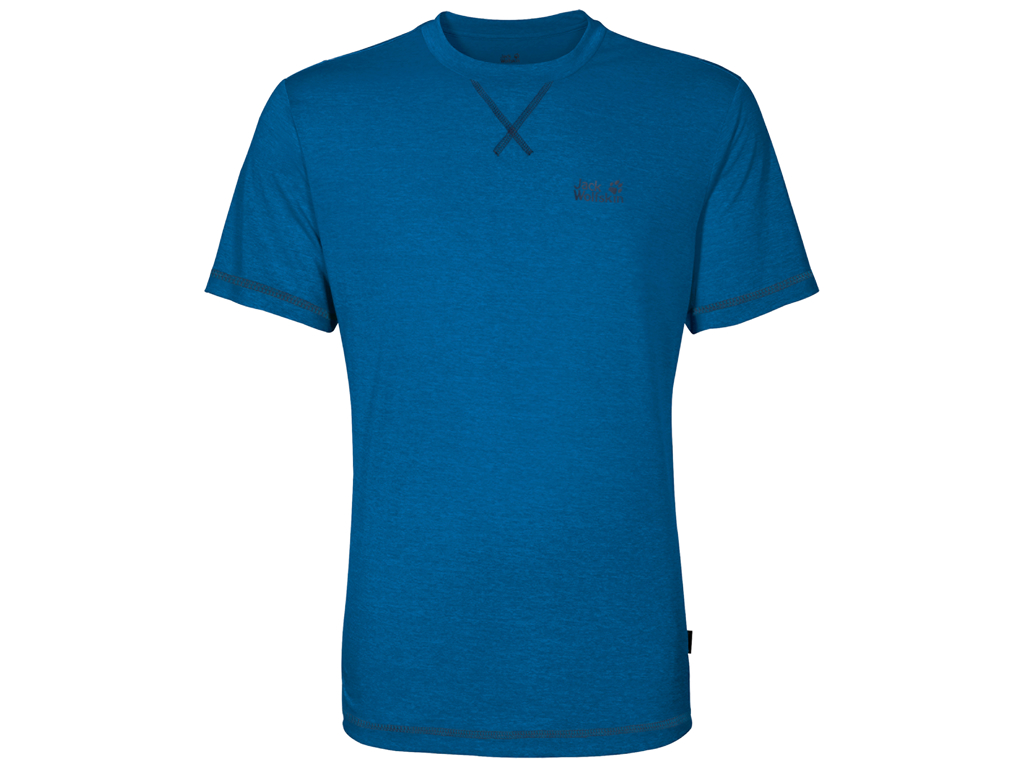 Jack Wolfskin Crosstrail T - T-Shirt Hr. Str. M - Electric blue thumbnail