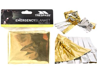 Trespass Foil X - Redningstæppe - Antishock folie - 150 x 208 cm.