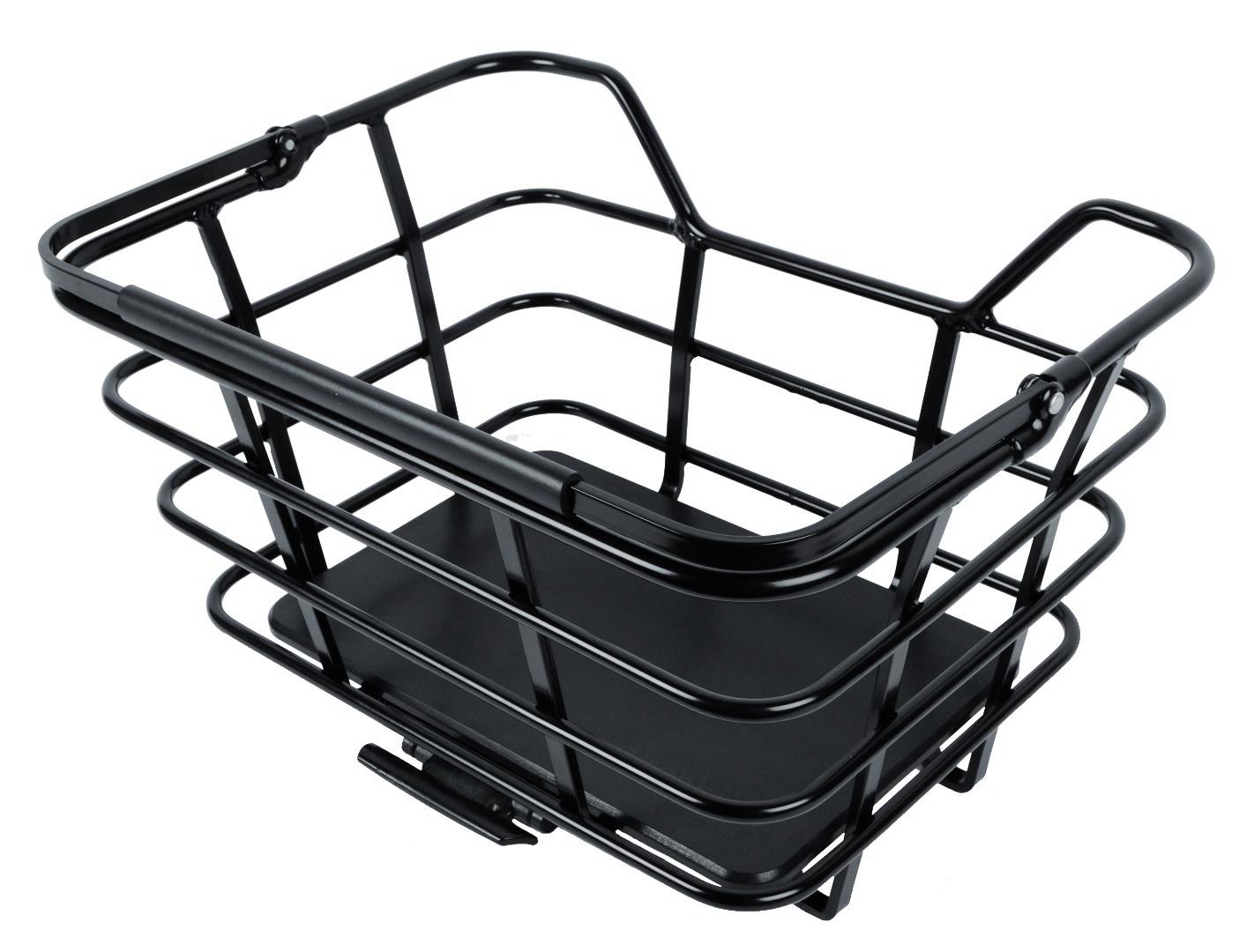 Atran Velo - Epic - Cykelkurv til bag - AVS system - 23 liter - Aluminium - Sort   Bike baskets