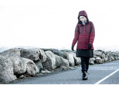 Didriksons Alta Womens Jacket - Damejakke - Rød