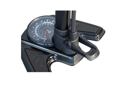 PRO Fodpumpe - Team Tubeless - Alu med stort manometer display - 160 PSI
