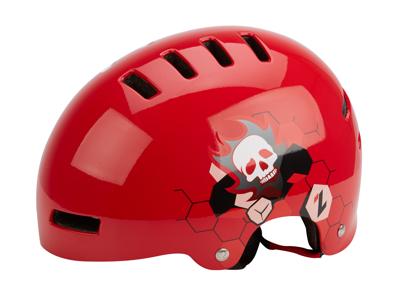 Lazer Street - Urban Cykelhjelm - Rød med motiv