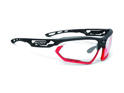 Rudy Project Fotonyk - Løbe- og cykelbrille - Impactx Fotokromisk 2 - Mat sort/Neon rød