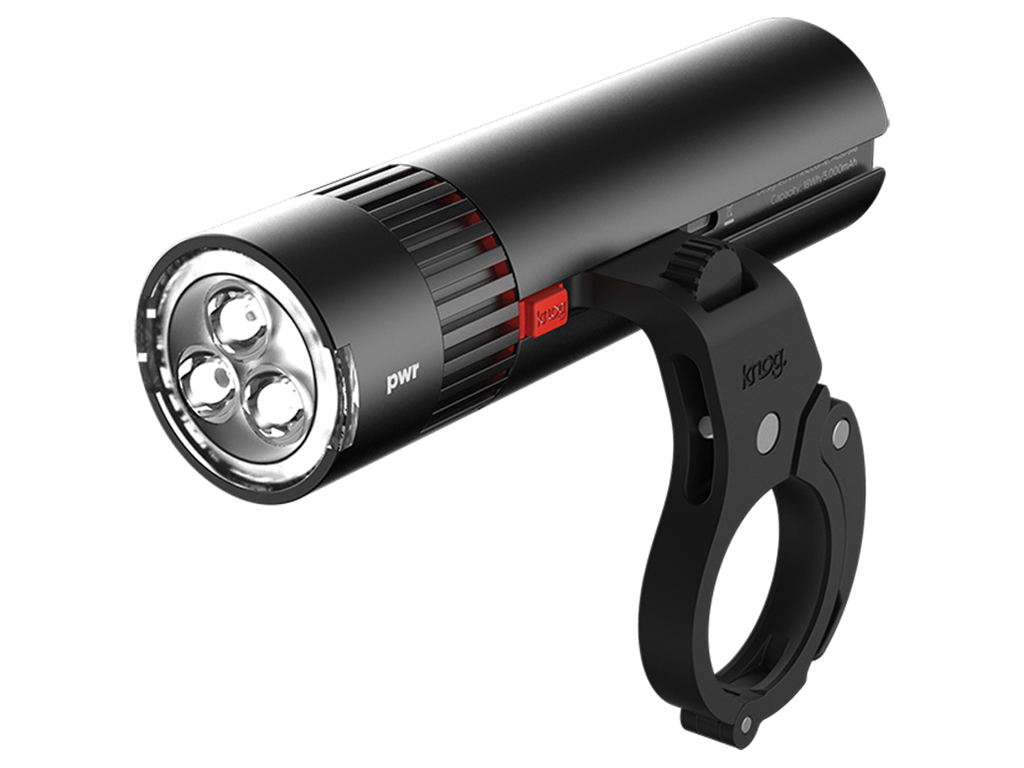 Image of   Knog - Cykellygte PWR Trail - 1000 lumen - Sort - USB opladelig - Powerbank funktion