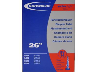 Schwalbe slange 26 x 1,50-2,35 X-Light med Racer ventil SV14