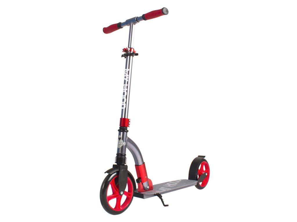 Image of   My Hood Curve - Løbehjul til børn og voksne - Grå/Rød