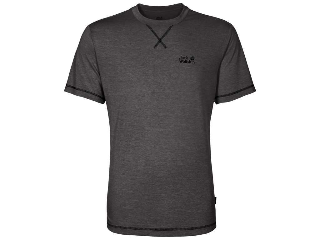 Image of   Jack Wolfskin Crosstrail T - T-Shirt Hr. Str. M - Dark steel
